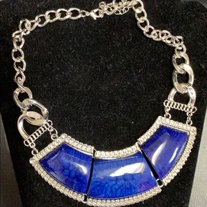 Jewelry - Blue and silver statement necklace